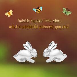 Bunny Stud Earrings for Kids in Sterling Silver