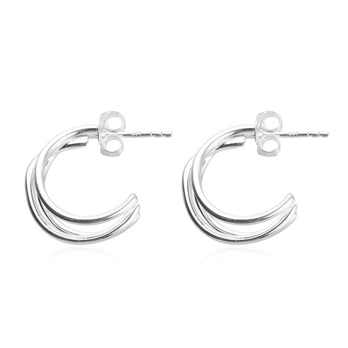 One Time Deal- High Polished Sterling Silver Earrings (with Push Back)
