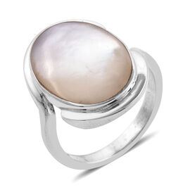 Royal Bali Collection Mother of Pearl Ring in Sterling Silver, Silver wt 5.11 Gms.