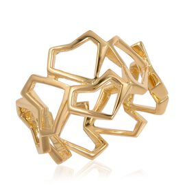 WEBEX- Rachel Galley Yellow Gold  Plated Sterling Silver Heart Ring, Silver wt 3.96 gms.