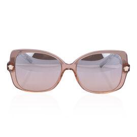 VERSACE Square Acetate Sunglasses- Nude