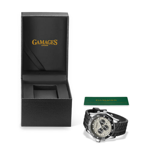 GAMAGES OF LONDON Limited Edition Hand Assembled Yacht Timer Automatic Steel