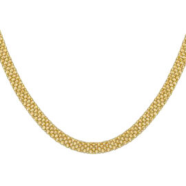 Bismark Chain Necklace with Senorita Clasp in 9K Yellow Gold 10.30 Grams 18 Inch