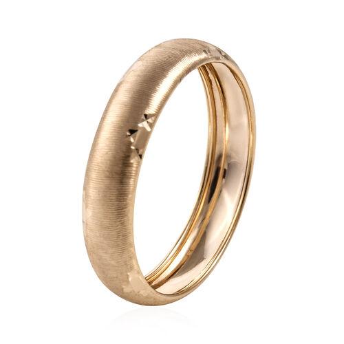 Royal Bali Collection 9K Yellow Gold Diamond Cut Matte Finish Band Ring
