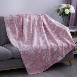 Phoenix Pattern Fleece Printed Blanket with Horse Stitching (Size: 130x170cm)