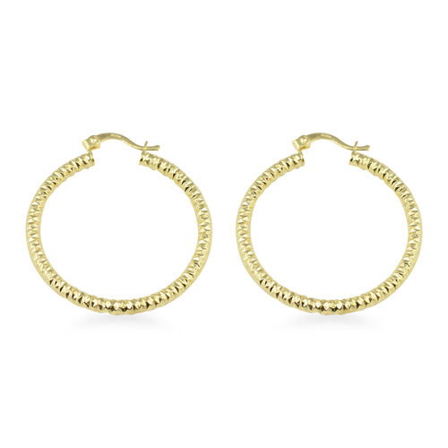 JCK Vegas Collection- 9K Yellow Gold Earrings (with Clasp Lock), Gold wt 4.10 Gms