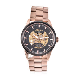 GENOA Automatic Movement 5ATM Water Resistant Watch with Chain Strap and Butterfly Buckle Clasp in R