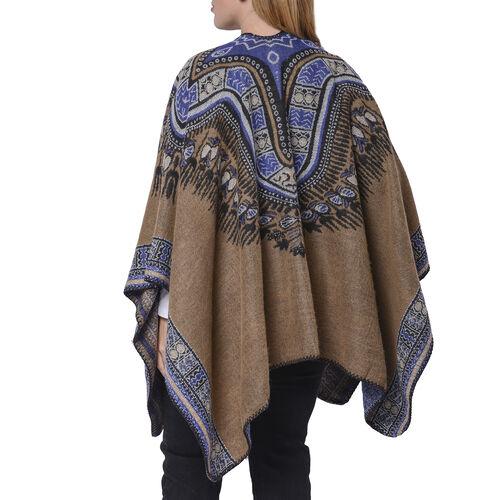 Designer Inspired- Khaki Colour Santa Fe Style Pattern Kimono (Size 132x72 Cm)