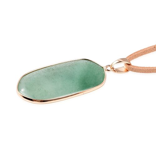 Set of 2 -  Green Aventurine and Rose Quartz Necklace (Size 20 with 2 inch Extender) in Yellow Gold Tone 50.00 Ct.