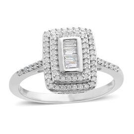 9K White Gold SGL Certified Diamond (Rnd) (I3/G-H) Ring 0.502 Ct.