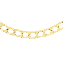 Limited Available- 9K Yellow Gold Square Curb Necklace (Size - 22), Gold wt. 17.50 Gms