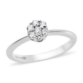 RHAPSODY 950 Platinum IGI Certified Diamond (Rnd) (VS/E-F) Ring 0.250 Ct.