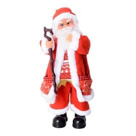 Christmas Decorations Singing Santa Claus (Size 50x13 Cm)  (Needs 3 AAA Batteries)