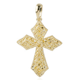 Signature Collection- Ottoman Treasure-  9K Yellow Gold Cross Pendant Gold Wt 2.35 Grams