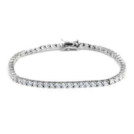 Swarovski Cubic Zirconia Tennis Bracelet in Sterling Silver 7 Inch