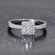RHAPSODY 950 Platinum IGI Certified Diamond (VS/E-F) Ring 0.50 Ct.