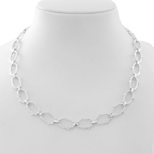 Vicenza Collection Sterling Silver Oval Necklace (Size 20), Silver wt. 57.50 Gms.