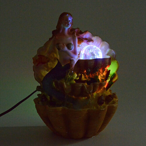 Home Decor - Mermaid Water Fountain with LED Light