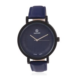 STRADA Japanese Movement Water Resistant Watch with Navy Blue Strap