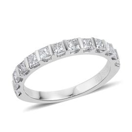 Limited Available - RHAPSODY 950 Platinum IGI Certified Diamond (Princess Cut) (VS/F) Ring 1.000 Ct.