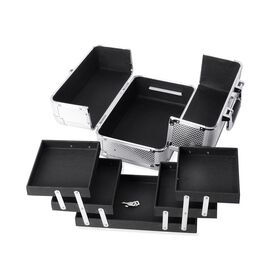 4 Tier Extendable Cosmetic Organizer (Size 28x17x20 Cm) - Silver