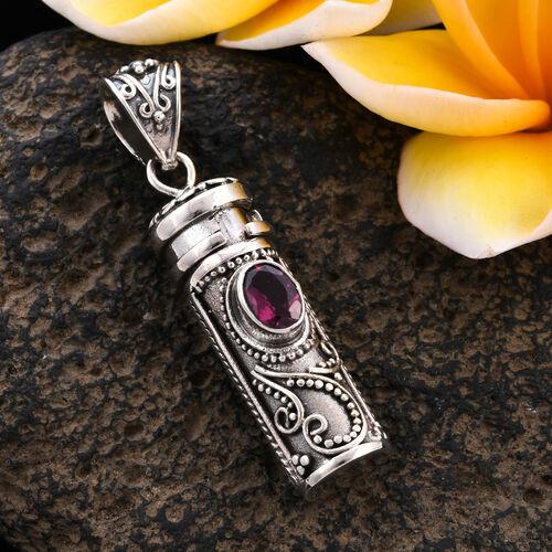 Royal Bali Collection - Rhodolite Garnet Love Potion Pendant in Sterling Silver 1.05 Ct, Silver wt 8.28 Gms