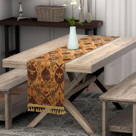 Turkish Handmade Table Runner (Size 180x50cm) - Gold & Multi