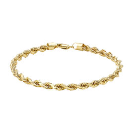 OTO- Hatton Garden Close Out Deal - 9K Yellow Gold Rope  Bracelet (Size 7.5) Gold Wt 4.20 Grams