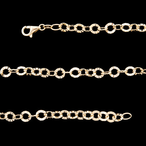 Royal Bali Collection - 9K Yellow Gold Fancy Rolo Necklace (Size 18) with Lobster Lock, Gold wt 4.66 Gms