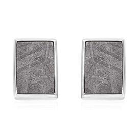 Meteorite (Bgt) Stud Earrings (with Push Back) in Platinum Overlay Sterling Silver 20.00 Ct.