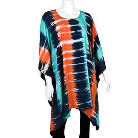 Bali Collection - Multicolour Tie Dye Pattern Poncho (Free Size)