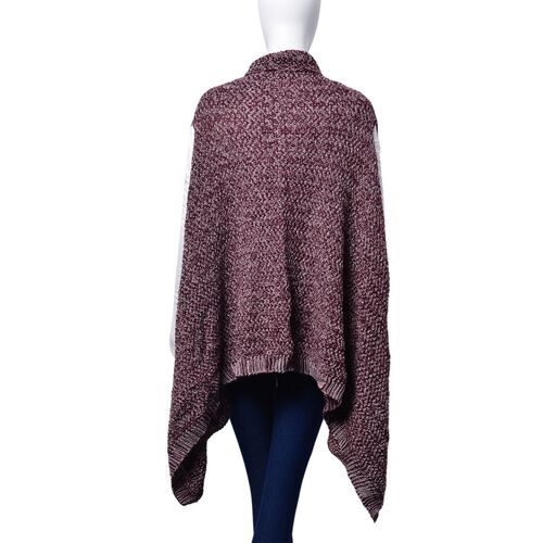 Burgundy and White Colour Wrap (Free Size)
