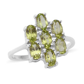 Natural Hebei Peridot Ring in Sterling Silver 1.40 Ct.