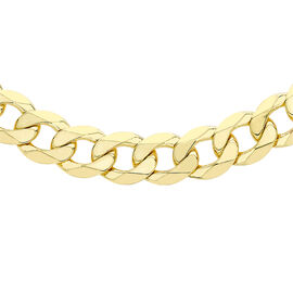 Hatton Garden Close Out Diamond Cut Curb Necklace in 9K Gold 20 Inch
