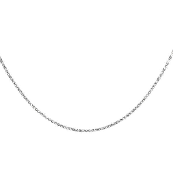 Sterling Silver Spiga Chain (Size 20), Silver wt 2.86 Gms