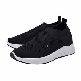 BLACK ANKLE FLY KNIT TRAINER