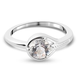 Petalite Solitaire Ring in Sterling Silver