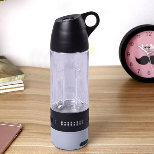 Water Bottle with Wireless Bluetooth Speaker in Black (Capacity 400ml)