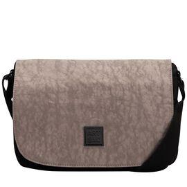 Artsac - Black and Grey Flap Over Shoulder Bag (Size 290 x200 x100 mm)