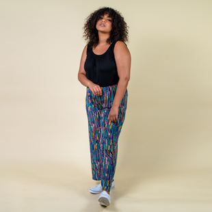 TAMSY Miss Collection Printed Trousers (Size:M/L,10-18) - Multi