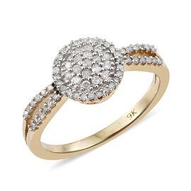 9K Yellow Gold Diamond (Rnd) (I3/G-H) Ring 0.330 Ct.