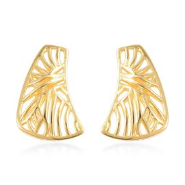 Isabella Liu - Sea Rhyme Collection - Yellow Gold Overlay Sterling Silver Earrings (with Push Back)