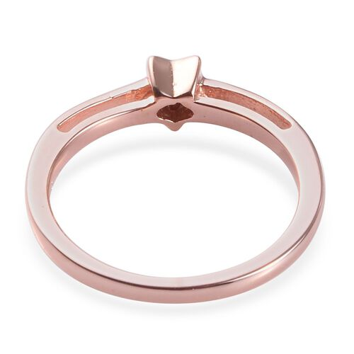 Diamond Star Stacker Ring in Rose Gold Overlay Sterling Silver