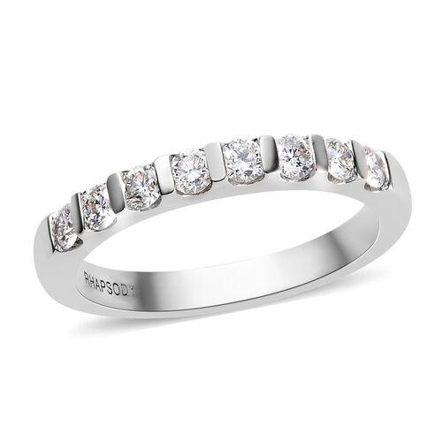 RHAPSODY 950 Platinum IGI Certified Natural Diamond (VS/E-F) Eternity Band Ring 0.50 Ct, Platinum wt