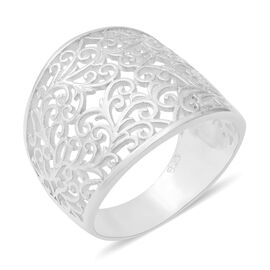 Sterling Silver Filigree Ring, Silver wt 5.30 Gms
