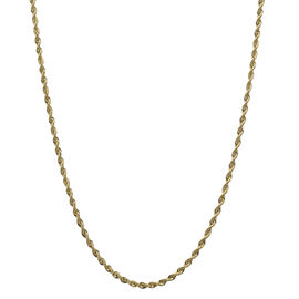Italian Made 9K Yellow Gold Rope Chain (Size 22), Gold wt 3.03 Gms