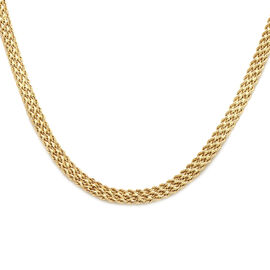9K Yellow Gold Rope Necklace (Size 18),  Gold Wt. 7.00 Gms