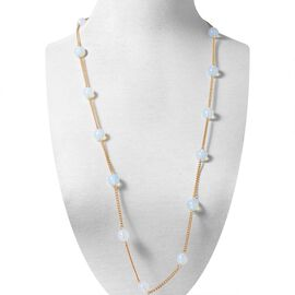 Opalite (Rnd) Long Line Station Necklace (Size 35)