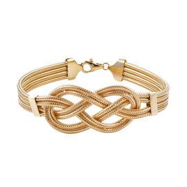 Royal Bali Collection- 9K Yellow Gold Infinity Knot Bracelet (Size 7.25), Gold wt 13.20 Gms