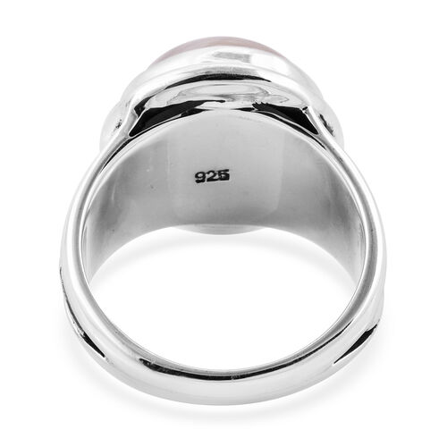 Royal Bali Collection Mabe White Pearl (Rnd) Ring in Sterling Silver, Silver wt 7.00 Gms